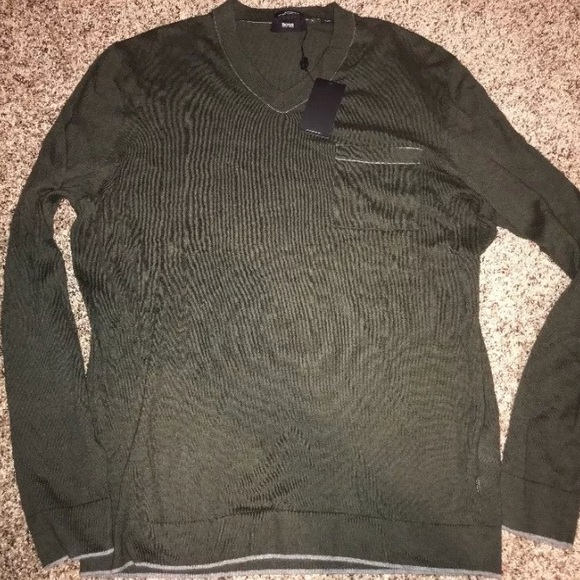 07e48a12e Hugo Boss Sweaters | Slim Fit Cotton Cashmere Sweater Xl | Poshmark